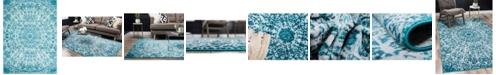 Bridgeport Home Basha Bas4 Turquoise 8' x 11' Area Rug