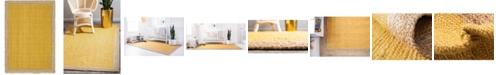 Bridgeport Home Braided Jute A Bja4 Yellow 6' x 9' Area Rug