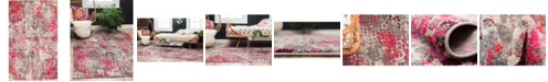 Bridgeport Home Crisanta Crs4 Pink 5' x 8' Area Rug