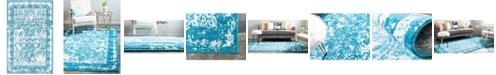 Bridgeport Home Mishti Mis3 Blue 4' x 6' Area Rug