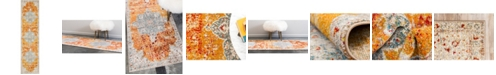 """Bridgeport Home Mishti Mis8 Orange 2' 7"""" x 10' Runner Area Rug"""