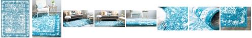Bridgeport Home Mishti Mis3 Blue 8' x 10' Area Rug