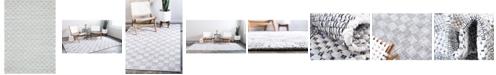 Bridgeport Home Jari Checkered Jar2 Ivory 9' x 12' Area Rug