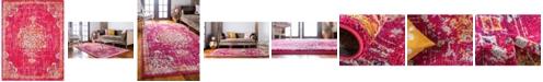 Bridgeport Home Lorem Lor1 Magenta 8' x 10' Area Rug