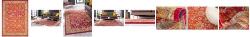 Bridgeport Home Lorem Lor3 Red 10' x 14' Area Rug