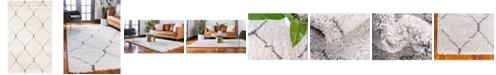 Bridgeport Home Fazil Shag Faz5 Ivory 5' x 8' Area Rug