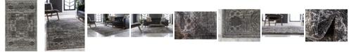 Bridgeport Home Mobley Mob2 Dark Gray 5' x 8' Area Rug