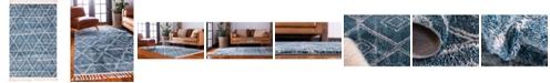 "Bridgeport Home Levia Lev2 Dark Blue 5' 2"" x 8' Area Rug"