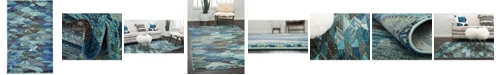 Bridgeport Home CLOSEOUT! Arcata Arc4 Blue 5' x 8' Area Rug