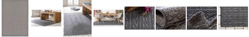 Bridgeport Home Pashio Pas6 Gray 7' x 10' Area Rug