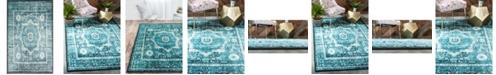 Bridgeport Home Linport Lin7 Turquoise 5' x 8' Area Rug