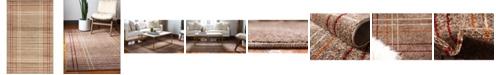 Bridgeport Home Jasia Jas13 Light Brown 5' x 8' Area Rug
