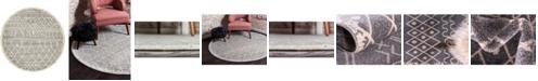 Bridgeport Home Fio Fio2 Gray 8' x 8' Round Area Rug