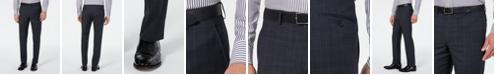 Lauren Ralph Lauren Men's Classic-Fit UltraFlex Stretch Gray/Blue Plaid Suit Separate Pants