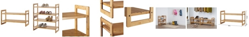 TRINITY Bamboo Shoe Rack, Pack of 2