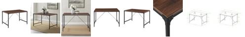 Walker Edison Industrial Wood Dining Table