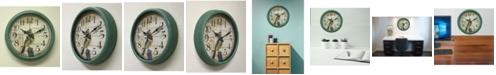 "Creative Motion 14"" Clock with Bird Design"