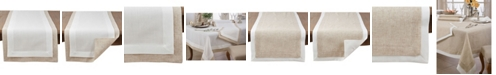 Saro Lifestyle Double Layer Table Runner with Thick Border Design