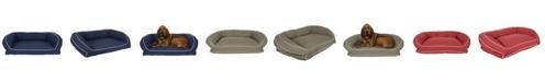 Carolina Pet Company Memory Foam Classic Canvas Bolster Bed, Contrast Cording