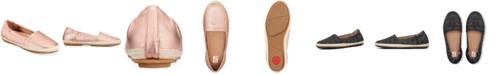 FitFlop Women's Siren Glitter-Stripe Espadrilles Flats