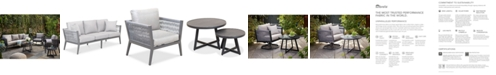 Furniture Braxtyn Outdoor 5-Pc. Seating Set (Sofa, 2 Club Chairs, Round End Table & Round Nesting Coffee Table) with Sunbrella® Cushions, Created for Macy's