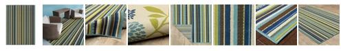 "JHB Design Bella BEL02 Blue 2'5"" x 4'5"" Area Rug"