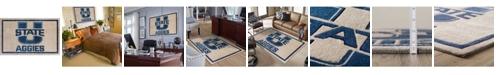 "Luxury Sports Rugs Utah State Colus Charcoal 5' x 7'6"" Area Rug"