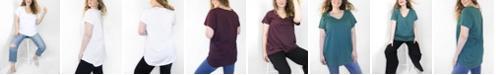 Ori Women's Plus Size CloudSoft V-Neck Tunic