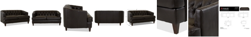 """Macy's Austian 69"""" Leather Loveseat, Created for Macy's"""