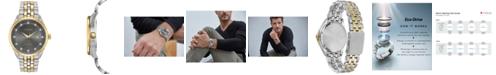 Citizen Men's Eco-Drive Corso Diamond-Accent Two-Tone Stainless Steel Bracelet Watch 41mm