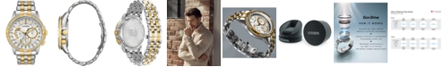 Citizen Eco-Drive Men's Calendrier Diamond-Accent Two-Tone Stainless Steel Bracelet Watch 44mm