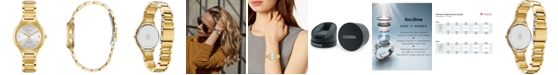 Citizen Eco-Drive Women's Corso Diamond-Accent Gold-Tone Stainless Steel Bracelet Watch 29mm