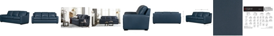"""Furniture Lisben II 83"""" Leather Sofa"""