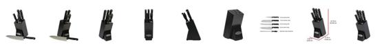 Oceanstar Contemporary 6-Piece Knife Set with Block