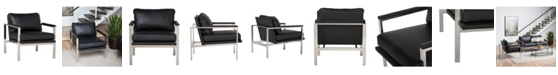 Studio Designs Home Lintel Bonded Leather Arm Chair