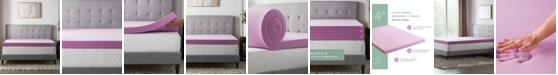 "Lucid 4"" Lavender Memory Foam Mattress Topper, California King"