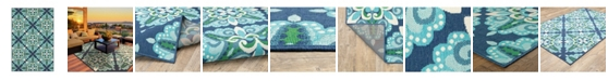 "JHB Design Apex APE05 Blue 6'7"" x 9'6"" Area Rug"