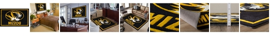 "Luxury Sports Rugs Missouri Colmo Black 3'2"" x 5'1"" Area Rug"