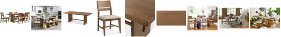 Furniture CLOSEOUT! Athena 7-Pc. Dining Set (Dining Trestle Table & 6 Side Chairs)