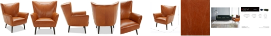 """Furniture Penryn 31"""" Leather Accent Chair"""