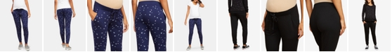 Motherhood Maternity Under Belly Jersey Knit Relaxed Fit Jogger Pants