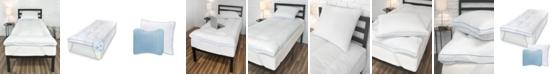 SensorPEDIC Back to Campus Gel-Infused MemoryLOFT Twin XL Mattress Topper with Jumbo Gel Pillow