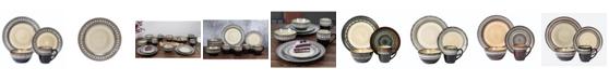Lorren Home Trends 16 Piece Glazed Dinnerware