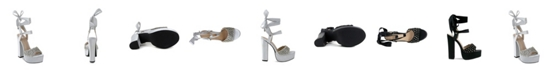 Olivia Miller Garden City Multi Floral Chunky Heel Sandals