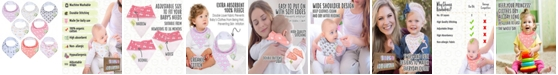 KeaBabies Baby Boys and Girls Organic Burp Cloths