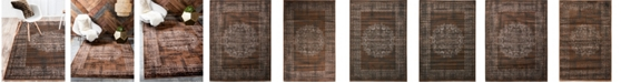 Bridgeport Home Linport Lin5 Chocolate Brown Area Rug Collection