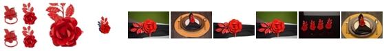 Vibhsa Rose Napkin Rings, Set of 4