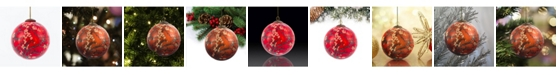 """La Pastiche by Overstockart Branches of An Almond Tree in Blossom, Red Hand Painted Glass Ornament by Vincent Van Gogh, 3.5"""" x 3.5"""", 3.5"""" x 3.5"""""""