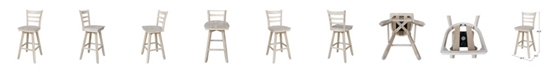 International Concepts Emily Bar Height Stool with Swivel and Auto Return