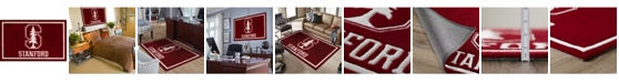 """Luxury Sports Rugs Stanford Colst Red 1'8"""" x 2'6"""" Area Rug"""